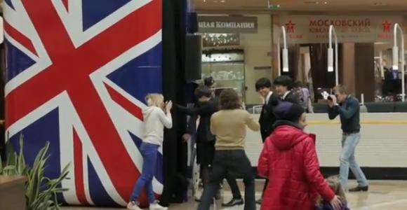 イギリス観光フラッシュモブ